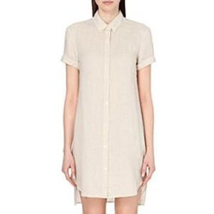 JAMES PERSE linen button down shirt dress Ceramic